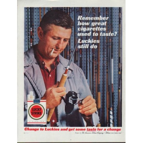 "1962 Lucky Strike Ad ""Remember how great ..."""