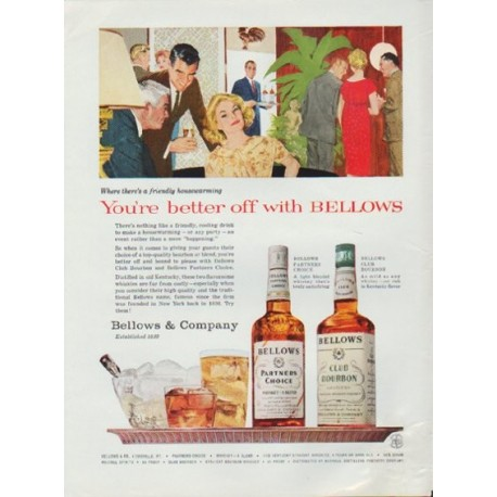 "1959 Bellows Ad ""You're better off with Bellows"""