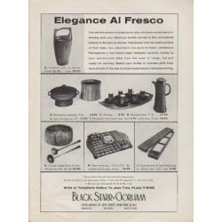 "1959 Black Starr & Gorham Ad ""Elegance Al Fresco"""