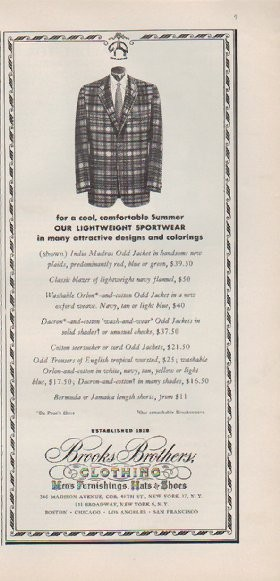 """What Is Freight Shipping >> 1959 Brooks Brothers Vintage Ad """"for a cool, comfortable ..."""