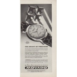 "1959 Movado Ad ""The Height Of Precision"""
