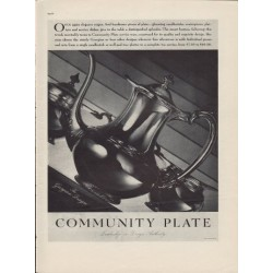 "1937 Community Plate Ad ""Georgian Design"""