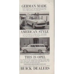 """1959 Buick Ad """"This is Opel"""""""